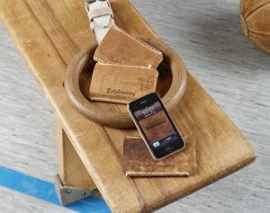 Zirkeltraining Iphone-Tasche Leder
