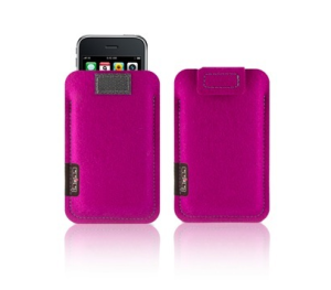ioqoo iPhone 4 3Gs + iPod touch sleeve filz pink