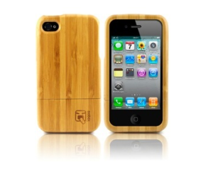 ioqoo wooden case PURE BAMBOO für iPhone 4 echtes Holz