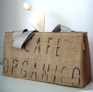 traditionsWerk Tasche Cafe Organico aus Naturfilz und Jute in Deutschland handgefertigt