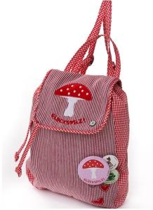Adelheid Glückspilz Kinderrucksack - rot weiss Streifen