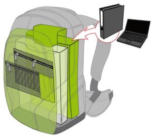 ergomax - ergonomischer SChulrucksack für weiterführende Schule - Innenansicht