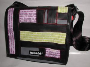 ichichich Taschen aus Berlin - Patchwork mit Text