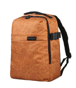 Samsonite Metatrack Laptop Rucksack in flower orange