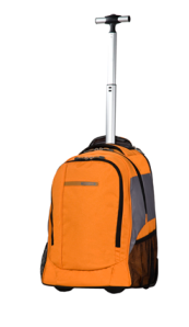Samsonite Wander-Full Laptop Rucksack mit Rollen in orange
