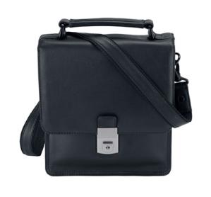 Travelite Torino Herrentasche zum Umhängen mit Überschlag aus Leder