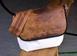 Zirkeltraining Tasche Bock Messenger Bag mit Turnbockleder
