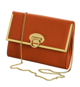 Gina Tricot clutch Lova envelope in Winter orange