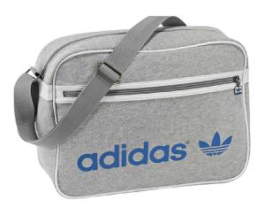 adidas Klassiker Airline Bag aus grauem Frottee