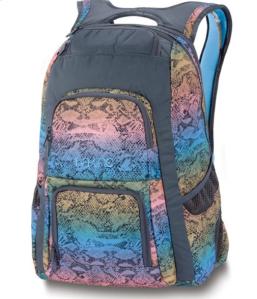 DAKINE Schulrucksack JEWEL für Girls Muster Charcol Rainbow