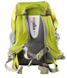 ergolino Kindergartenrucksack von ergobag olive gelb von hinten
