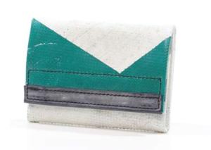 FREITAG Geldbörse F51 Dallas grün Muster