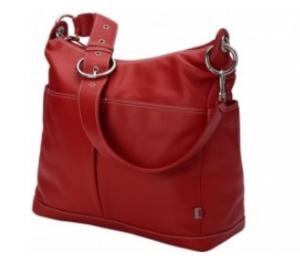 oioi Wickeltasche aus Leder - Hobo Diaper Bag