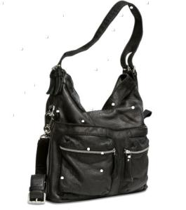 Liebeskind Berlin Lederhandtasche Aimee black seitlich