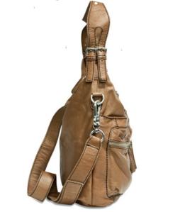 Liebeskind Berlin Lederhandtasche Aimee mud Seitenansicht