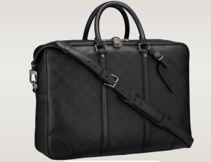 Louis Vuitton Aktentasche Voyage GM schwarz Leder Herrentasche