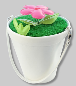 Pylones Blumentopf Handtasche weiß