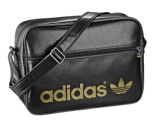 adidas Airline Bag schwarz mit Gold