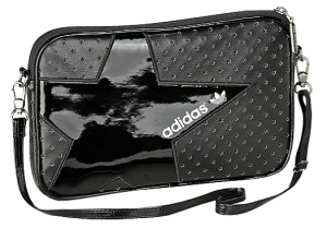 adidas Frauen Perforated Mini Airline Bag schwarz Stern Glanz
