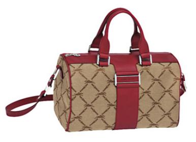 Longchamp Rote Ledertasche