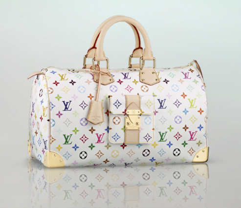 Louis Vuitton Tasche Weiß Grau