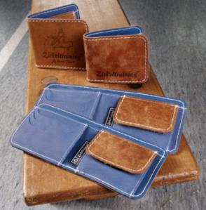 Zirkeltraining Taschen Geldbörse Bank in blau