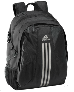 adidas Schulrucksack Back-to-school power Backpack in black - tin metallic