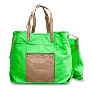 Liebeskind Berlin Handtasche Beta Baumwolle Leder grün