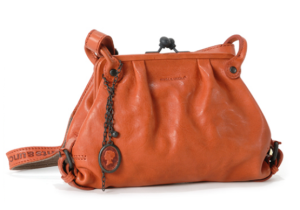 aunts and uncles Lederhandtasche Mrs Lemon Puff in pumpkin orange