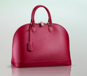 Louis Vuitton Lederhandtasche Alma MM in fuchsia