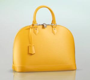Louis Vuitton Lederhandtasche Alma MM in zitronengelb