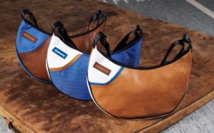 Zirkeltraining Handtasche Rad aus Turnmatte und Sportgeräteleder