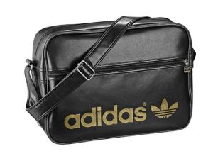 adidas Airline Bag schwarz glänzend